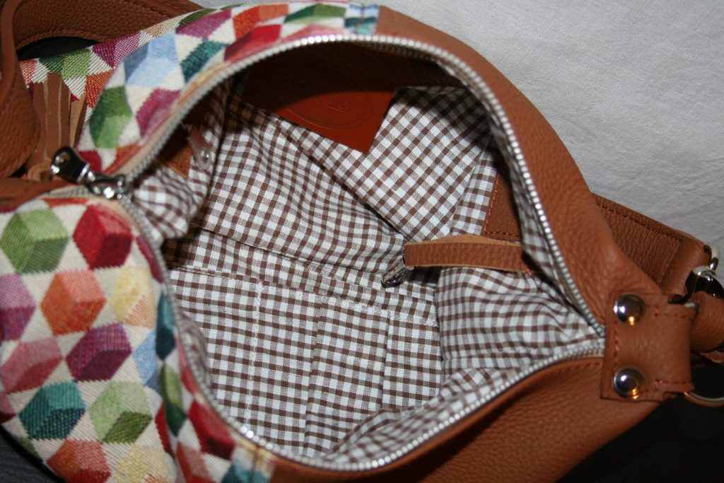 Bisac'h cuir et tissu brun