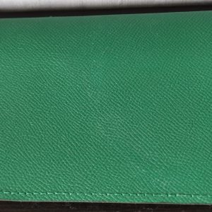 Etui porte chéquier (portefeuille) - Cuir Gauffré - Modèle Unique
