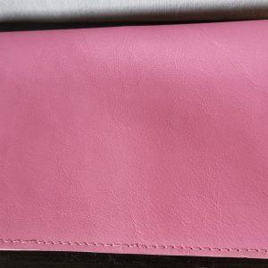 Etui porte chéquier (portefeuille) - Cuir Lisse - Modèle Unique