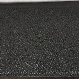 Etui porte chéquier (portefeuille) - Cuir Taurillon - Modèle Unique